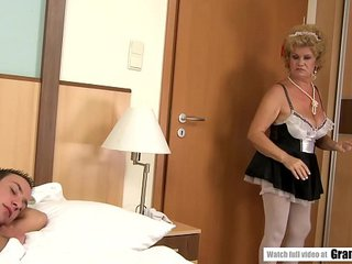 Killer French Maid Effie Finds Sleeping Experienced Boy
