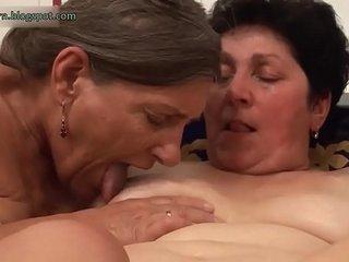 Lesbians grannies in tub