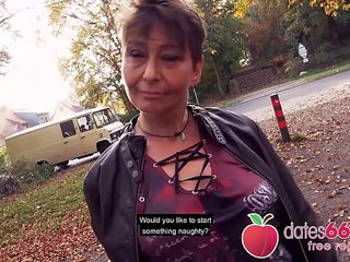 Gross and OLD - MILF, nearly GRANNY public fuck & no regrets Rubina dates66.com