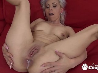 Trampy Granny Kathy White Gets An Anal Creampie From A Nasty Black Man