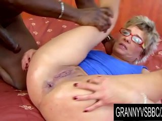Granny Vs Big black cock - GILF Jessey Has Her Arse Without mercy Rode by Her Black BF