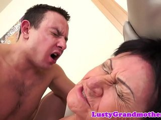 European granny gets creampied after fucking