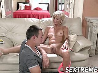 Blonde granny needs a youthful hard shaft