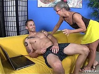 Horny Granny Gets Spilled