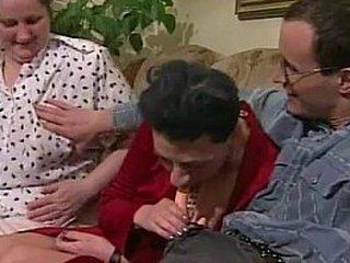 Granny orgy porno
