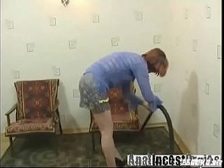 Russian granny fucking with young dude