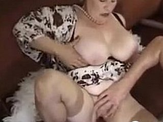 Thick And Busty Granny Enjoying A Shaft