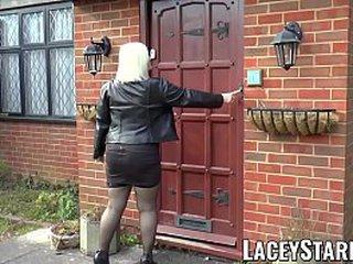 Horny Brit granny earns sweet facial cumshot