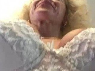 Busty granny rails dick