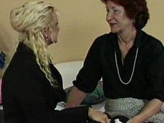 Lesbian Granny Tries Strapon