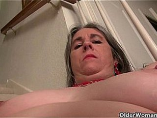 Naughty granny Bossy Rider loves fingering her ass hole