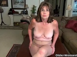 American gilf Kelli and her fur covered vagina are always ready to have some naughty fun. Bonus video: USA granny Ava.