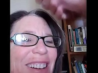 Mature mom giving nuts to husband - Jimmineyjack