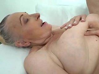Chesty granny loves hard-on