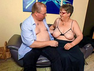 Hardcore OMAS - BBW granny with glasses home screwing