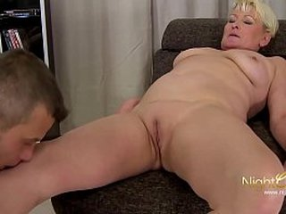 student with thick hard-on for a old granny pussy , she enjoy it