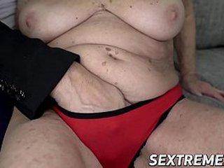 Big-titted granny stuffed until facial cumshot
