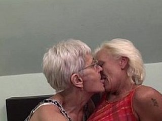 Lesbian grannies having joy