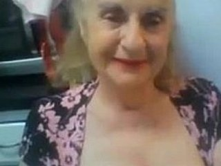 Old Granny Flashes her Tits on Webcam - More at cuntcams.net