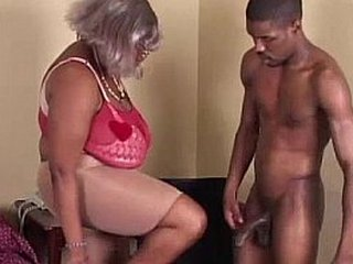BBW Black Granny Has Big Boobs