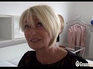 Gorgeous German Granny Franziska Striptease And Masturbation