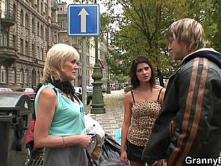 Granny escort pleases an youthfull man