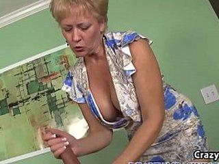 Busty Granny Sucks Dick