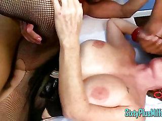 Mummy Granny Deep-throats While Fucked