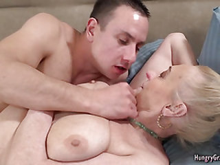 Blonde granny with phat boobs fucked hard