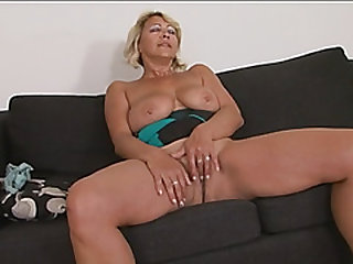 Chesty blonde gilf doggy fashion lengthy black cock