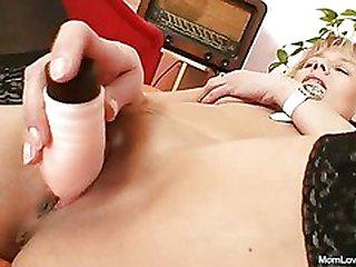 Warm domina lady performs filthy masturbation