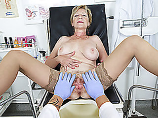 big boob hairy bush grandma gets tough pov frigged and screwed by her doctor