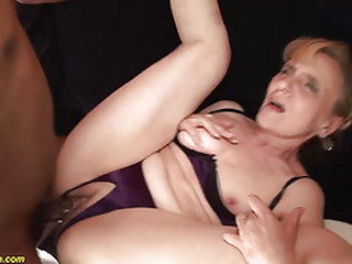 ugly 74 years old mom likes her very first black dick