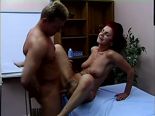 Nice Looking Granny Escort Cynthia Nails Her Customer