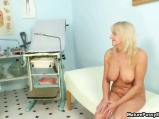 Grandma gets her tight pussy