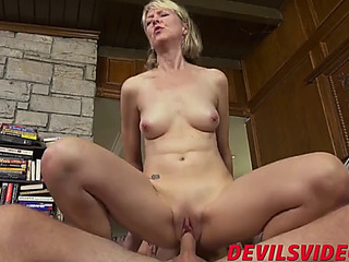 Slender granny has hardcore lovemaking with youthful chap toy