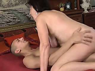 Granny banged by a young man