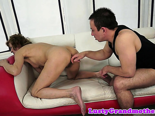 Bigass Granny Fucked After Plaything Play