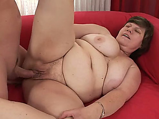 big beautiful chick granny with meaty breasts acquires bitchy unfathomable in her clam in sideways stance
