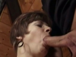 Granny Ethel sucking shaft