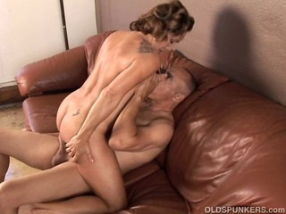 Gorgeous granny likes to screw and eat cum
