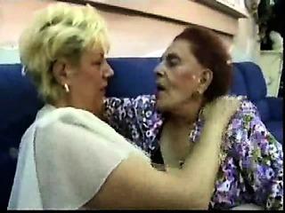 Granny Enjoys Milf