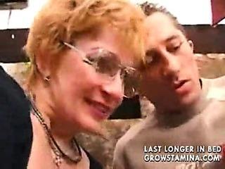 Granny Sates A Boy