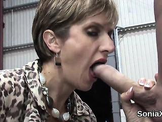 Unfaithful English Older Girl Sonia Displays Her Biggest Bent