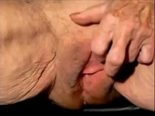 Very old granny with huge pleasure button