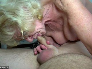OldNanny Thin old grannies and youthfull pretty chicks is masturbating