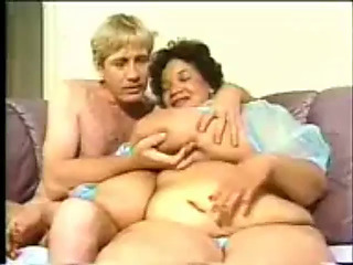 Plump swarthy granny with largest billibongs